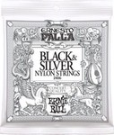 Ernie Ball 2406 Ernesto Palla Black & Silver Medium kép, fotó