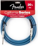 Fender California Instrument Cable, 6m, Lake Placid Blue kép, fotó