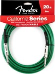 Fender California Instrument Cable, 6m, Surf Green kép, fotó