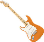 Fender Player Stratocaster balkezes, MN, Capri Orange kép, fotó