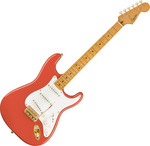 Squier FSR Classic Vibe '50s Stratocaster, MN, Fiesta Red, Gold Hardware kép, fotó