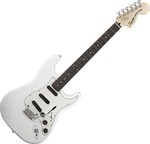 Squier Deluxe Hot Rails Strat Olympic White kép, fotó