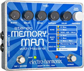 Electro-Harmonix Stereo Memory Man with Hazarai visszhang/looper gitárpedál
