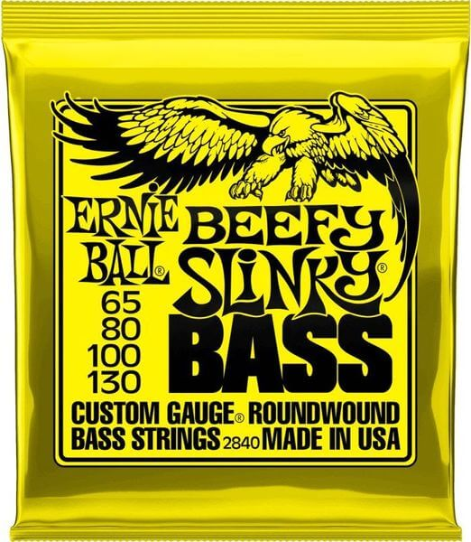 Ernie Ball 2840 Nickel Wound Beefy Slinky Bass 65-130